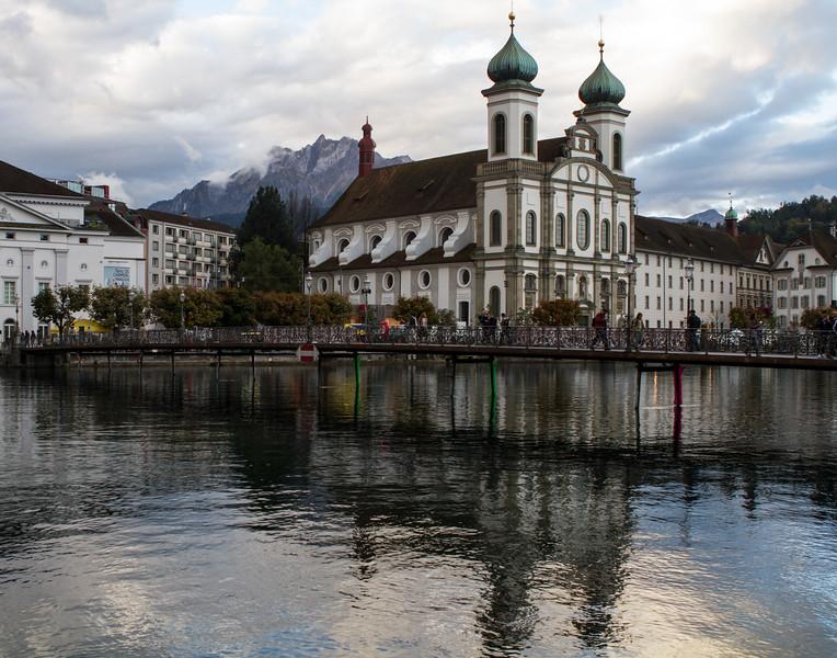 Church Reflections. Switzerland.