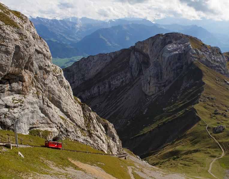 Trolley Climbing. Switzerland.