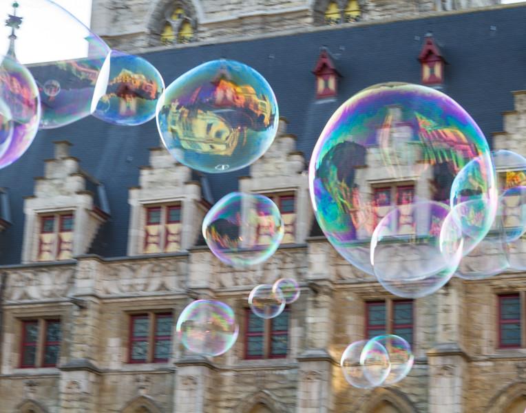 Town Square Bubbles. Ghent, Belgium.