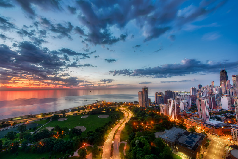 Sunrise Over Lake Michigan from Eugenie