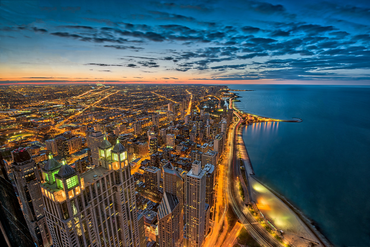 Days End Over Chicago  (From Hancock Looking North)
