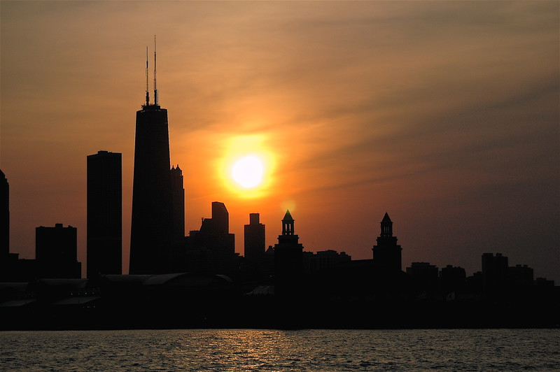 Sunset Over Big John and Navy Pier