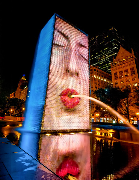 Crown Fountain - Blow Me a Kiss