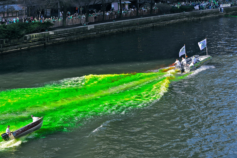 St. Pat's Day: Turning' The River Green - First Pass