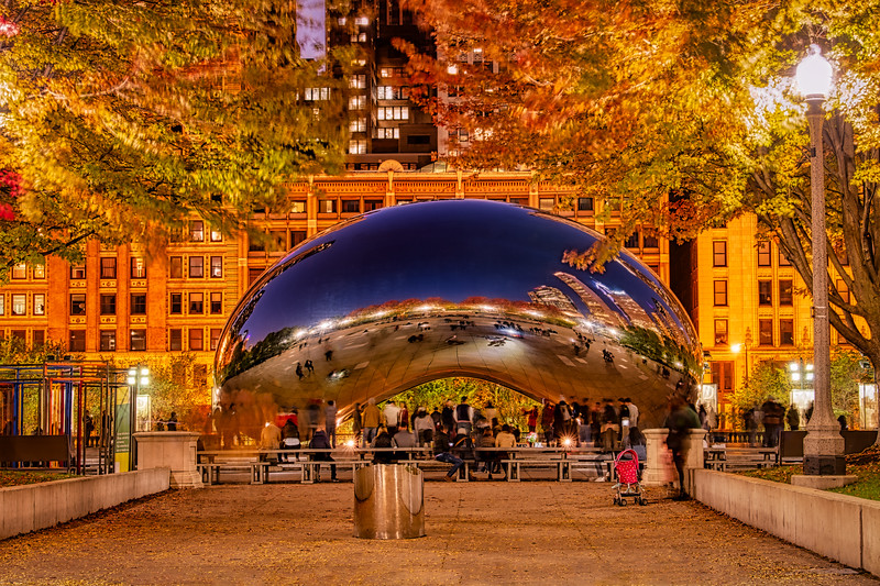 Autumn Nestles the Bean - Late Blue Hour
