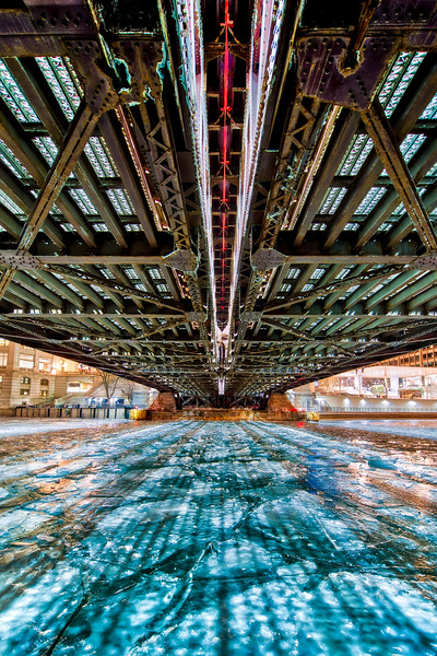 Beneath the Michigan Avenue Bridge