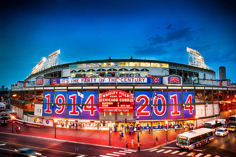 Wrigley Field 100th Anniversary Birthday Portrait