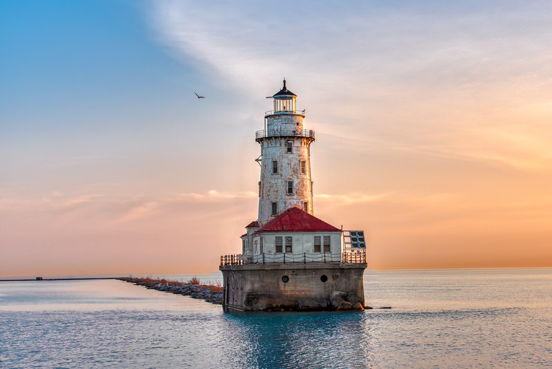 Quiet Sunrise at the Chicago Lighthouse