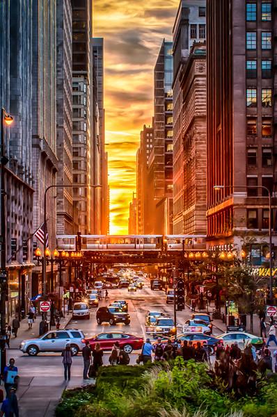 Chicago Henge 2016 - Red Car Version