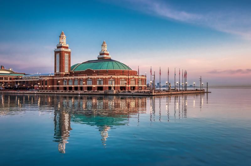 Serene Morning at Navy Pier