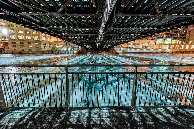 Beneath the Michigan Avenue Bridge - Take 2 - With Gate