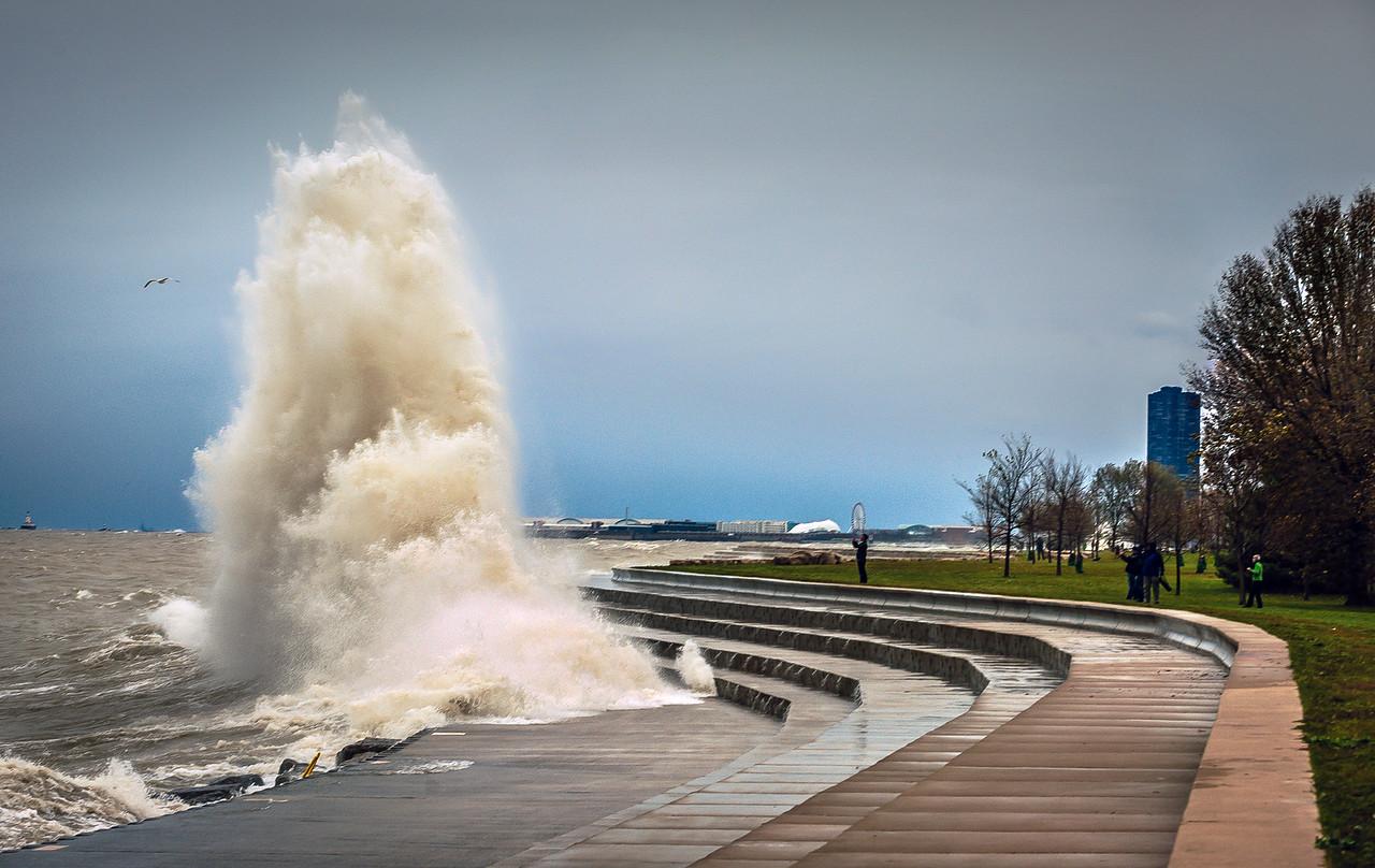 Post-Hurricane Sandy Waves Crash the Shore