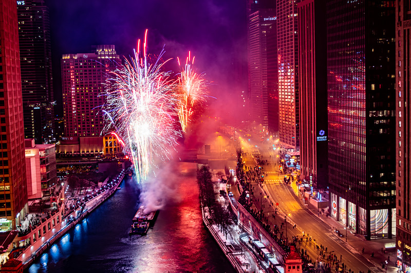 """Fireworks Finale on the River"" An Explosion of sound and color - and corks!"