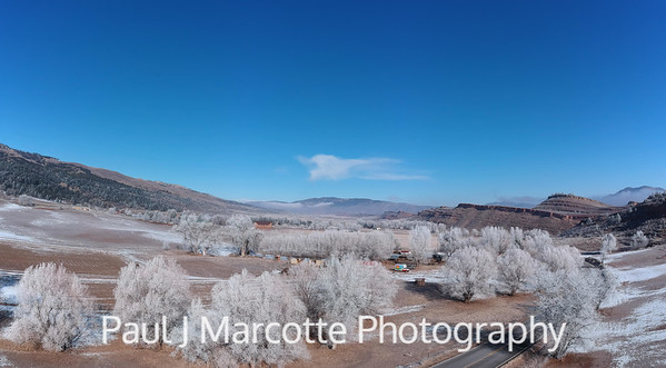 Hoarfrost on a Loveland Colorado county road
