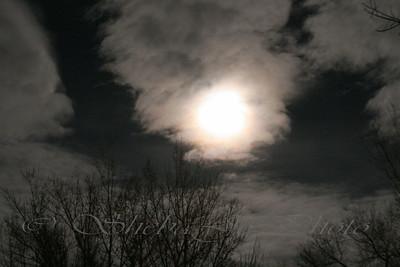 Cloudy moon.