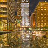 Helmsley Building and Park Avenue after the rain during the blue hour.