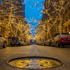 73rd Street, Upper East Side, Holiday lights and a manhole cover