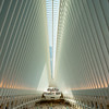 The Oculus at the World Trade Center Transportation Hub.  Afternoon light.