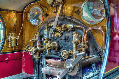 "Footplate of the Locomotive ""Gladstone"" built 1882-91"