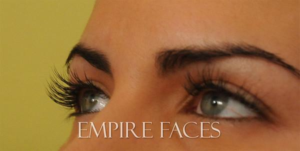 Lash extensions by Lara Toman of Empire Faces.