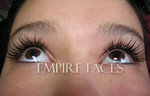 Eyelash extensions, full set upper. Empire Faces.