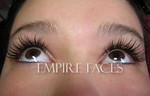 Eyelash extensions, full set upper. Empire Faces.