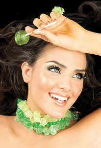Candied lashes promotion, Anaeli. Novalash model.