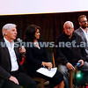 """20-2-17. Premier of """"Eyeless In Gaza"""" at the Classic Cinema Elsternwick. Panel discussion after the screening. From left: Robert Magid, Ilana Kempler, Michael Danby, Joel Burnie. Photo: Peter Haskin"""