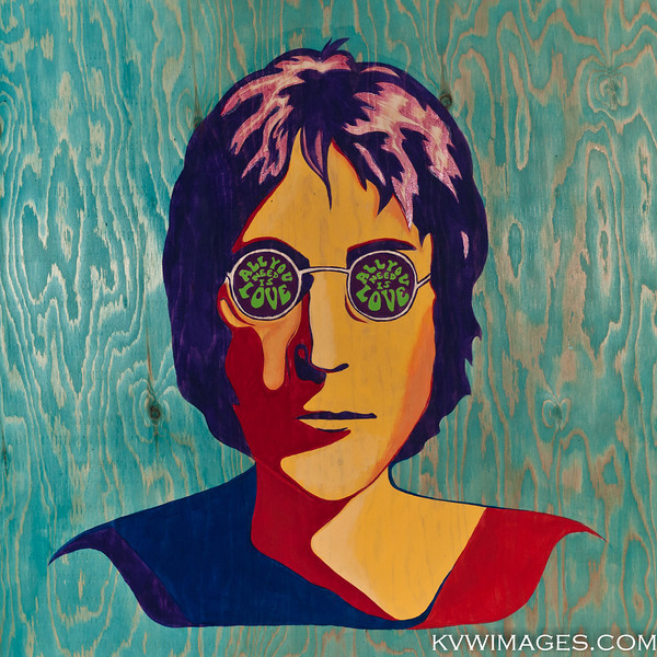 Sophie's G12 project. John Lennon - acrylic on plywood