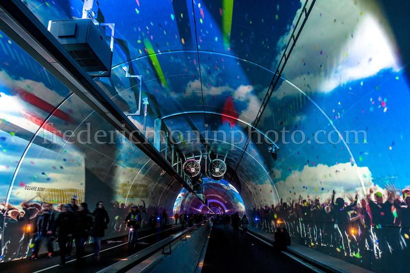 Fête des Lumières - Tunnel de la Croix Rousse