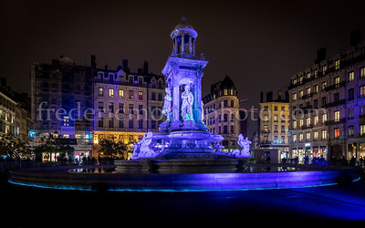 Jacobins Square during the Festival of Lights in Lyon