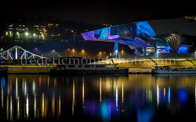 The Confluences Museum during the Festival of Light in Lyon