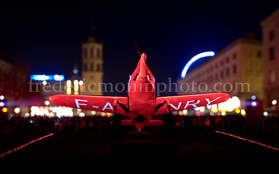 Antonin Poncet Square during the Festival of Lights in Lyon