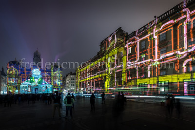Terreaux Square during the Festival of Lights in Lyon