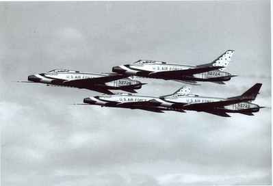 Thunderbirds F-100Cs 1960