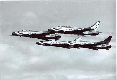Thunderbirds F-100Cs 1960