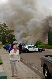 Residents being evacuated