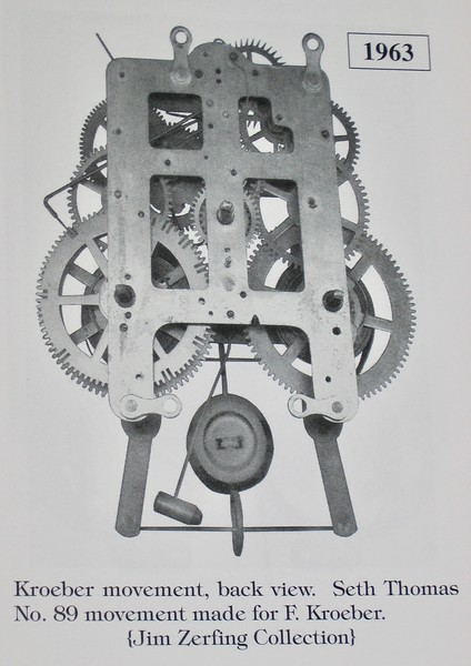 "Front view of Seth Thomas No. 89 movement in ""Kroeber Clocks"""