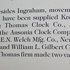 "Excerpt from the book ""Kroeber Clocks"" listing companies who made movements for Kroeber"