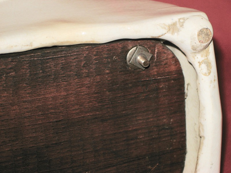 Case bottom board and mounting nut with washer