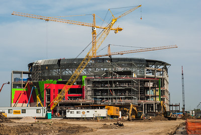 September 30, 2012  Construction on the new arena in Lincoln is coming along.  I'm looking forward to watching some Big 10 basketball in here, hopefully the Huskers can become competitive.