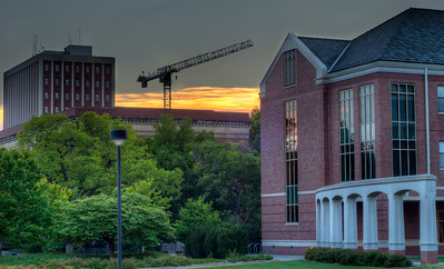 July 22, 2012  Another one from UNL, the crane is there for the football stadium.