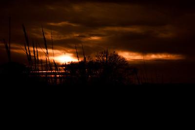October 29, 2012  A slightly enhanced Nebraska sunset.