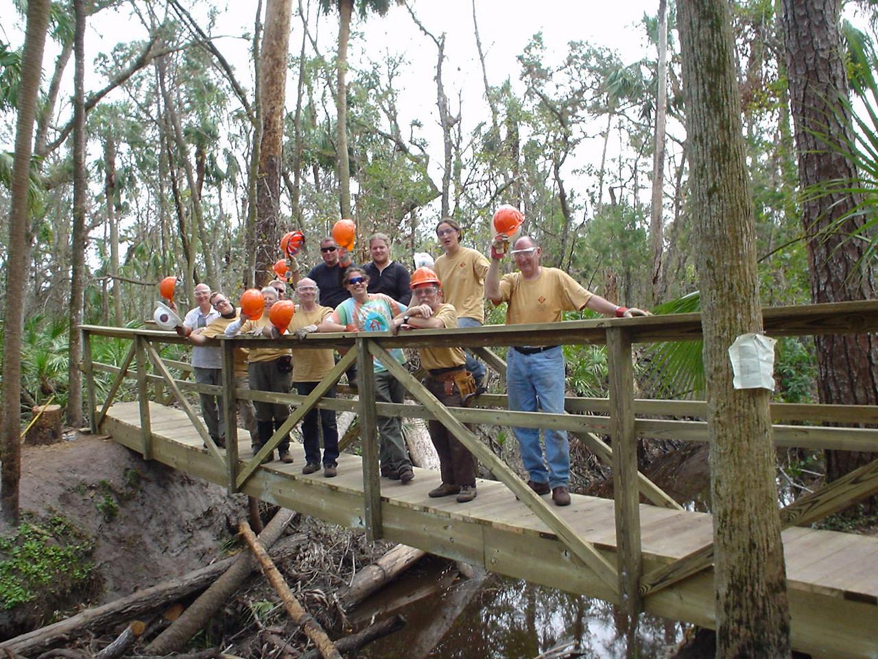 Crew on the long bridge<br /> Photo credit: FTA / Bob Woods
