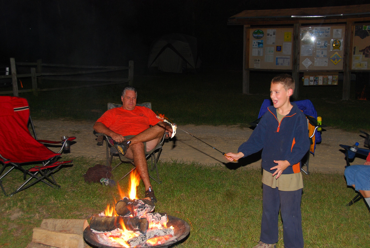 Mmm...marshmallows....<br /> PHOTO CREDIT: Megan Eno / Florida Trail Association