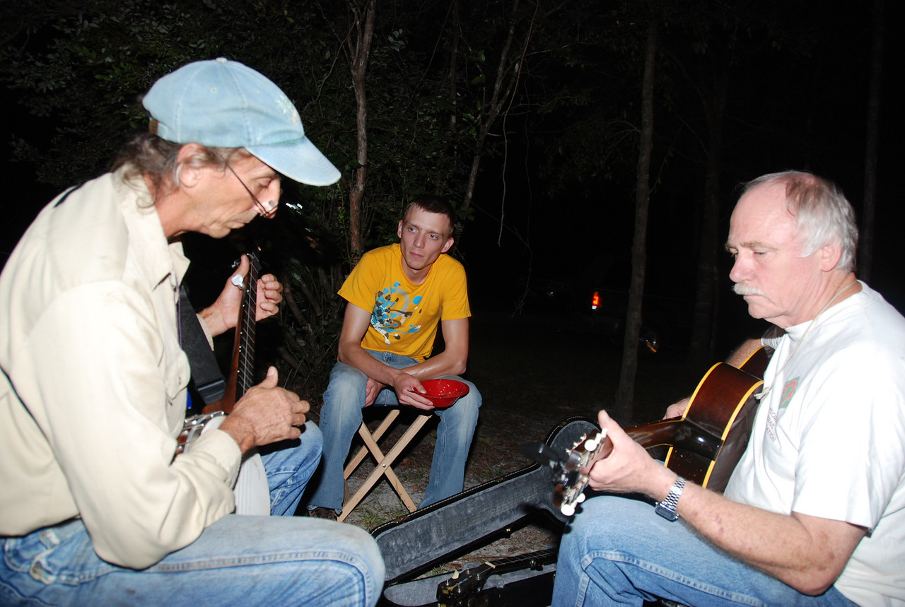 Pickin' and grinnin' after dark with Florida's finest<br /> PHOTO CREDIT: Megan Eno / Florida Trail Association