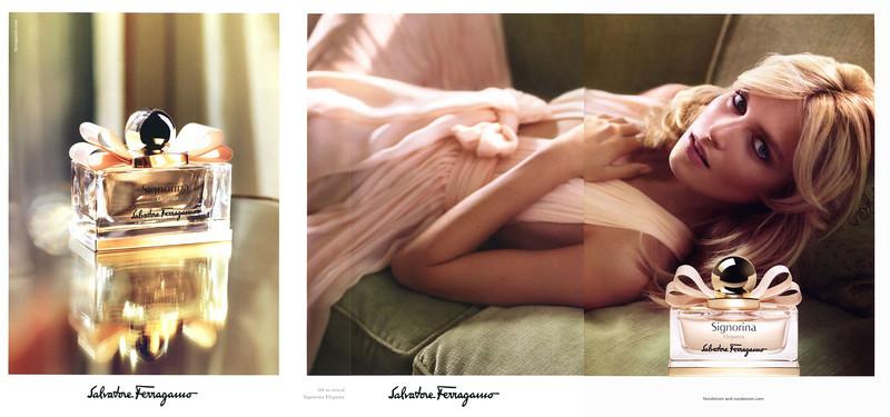 SALVATORE FERRAGAMO Signorina Eleganza 2014 US (Nordstrom stores) 3 pages with scent strip