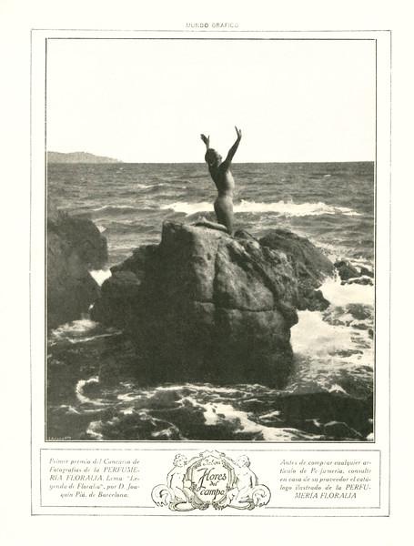 FLORALIA Flores del Campo 1917 Spain 'Primer premio del Concurso de Fotografías de la Perfumería Floralía'