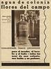 FLORALIA Flores del Campo 1934 Spain small format 'Agua de Colonia  concentrada - fresca - persistente'