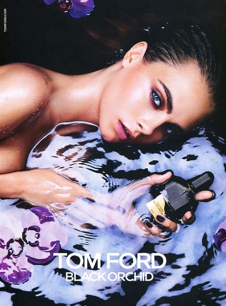 TOM FORD Black Orchid 2015 Italy<br /> MODEL: Cara Delevigne: PHOTO: Mario Sorrenti